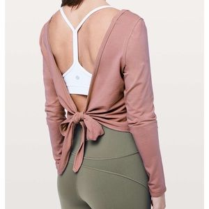 Lululemon Its A Tie Long Sleeve Copper Coil